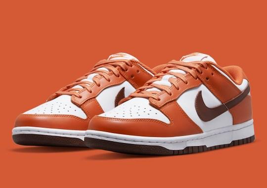 "This Nike Dunk Low Flips The Beloved ""Mesa Orange"" Colorway"