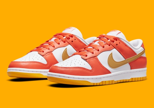 Oranges And Golds Set On The Nike Dunk Low