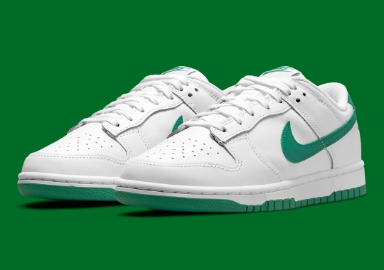 The Nike Dunk Low Keeps It Simple In White And Green