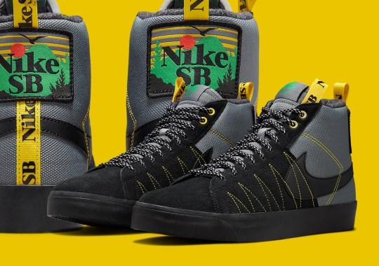 The Nike SB Blazer Mid Acclimate Dresses In Oregon Colors