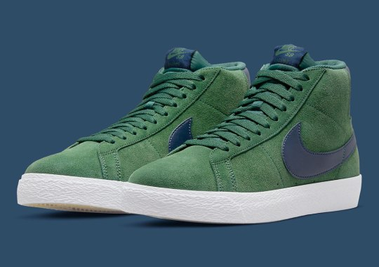 Lush Green Suede Covers This Nike SB Zoom Blazer Mid