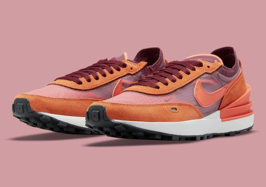 """The Nike Waffle One Cooks Up A New Colorway With """"Dark Beetroot"""" And """"Sport Spice"""""""