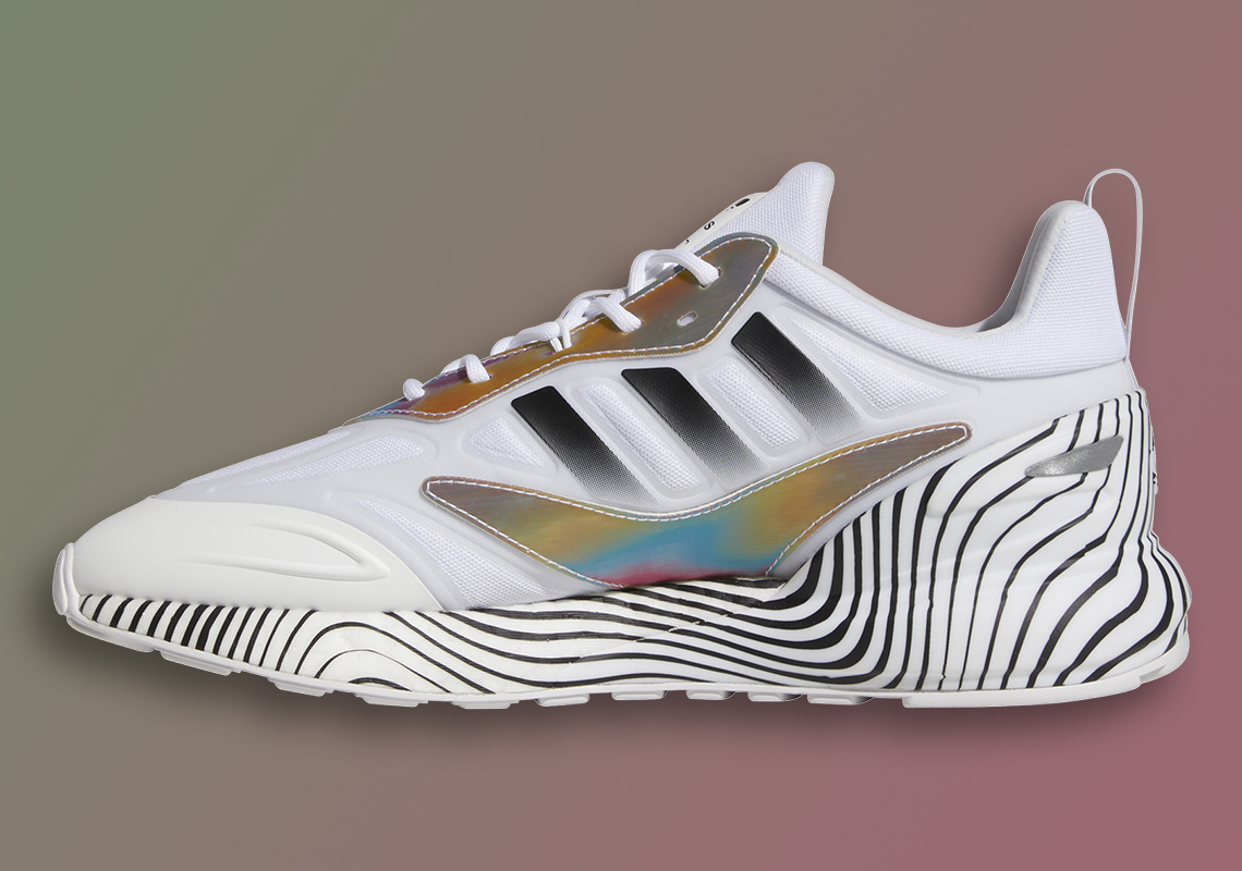 Pat Mahomes' adidas ZX 2K Boost 2.0 Features Hypnotic Lines On Its Midsole