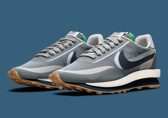 """CLOT x sacai x Nike LDWaffle """"Cool Grey"""" Set For October 7th Release; 9th On SNKRS"""