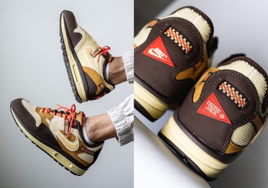 """Travis Scott's Nike Air Max 1 Collab Appears In """"Baroque Brown"""""""