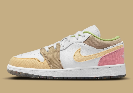 The Latest Kid's Air Jordan 1 Low Features Multi-Colored Canvas