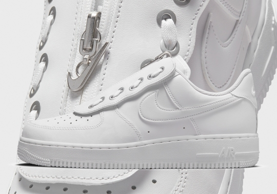 Nike Customizes The Air Force 1 With A Lace-In Zipper