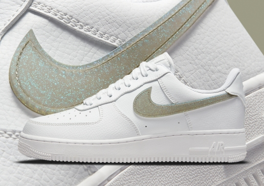 Nike Adds Glitter-Covered Swooshes To The Air Force 1's Wardrobe