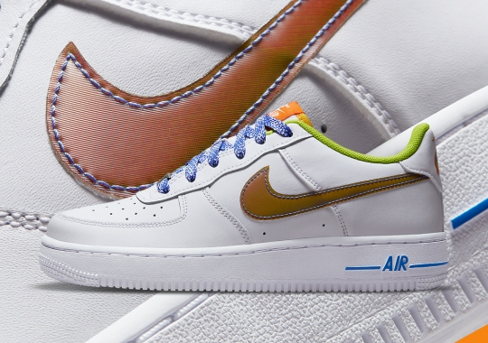 Nike Adds Color-Shifting Swooshes To This GS Air Force 1