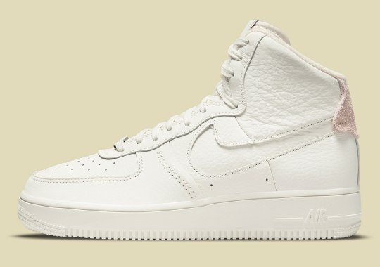 """The Strapless Nike Air Force 1 High Surfaces In A """"Triple Sail"""" Colorway"""