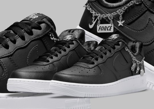 """Nike Adds Another Charm Bracelet To The Air Force 1 Low In """"Black"""""""