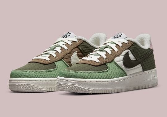 """The Nike Air Force 1 """"Toasty"""" Appears In A Remixed Big Kids Colorway"""