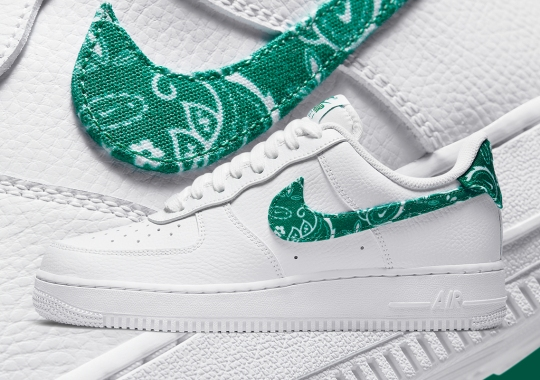 The Nike Air Force 1 Swaps Out Its Swoosh For Green Paisley