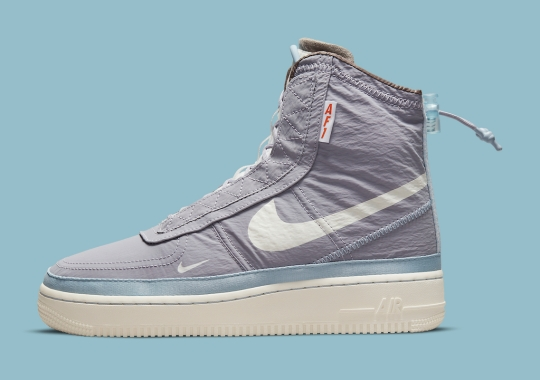 The Nike Air Force 1 Shell Appears In Light Purple