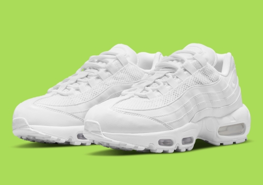 """The Nike Air Max 95 Appears In A Women's-Exclusive """"Triple White"""" Look"""