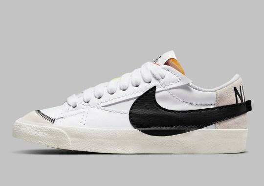 The Nike Blazer Low Jumbo Flaunts Hints Of Off-White Inspiration