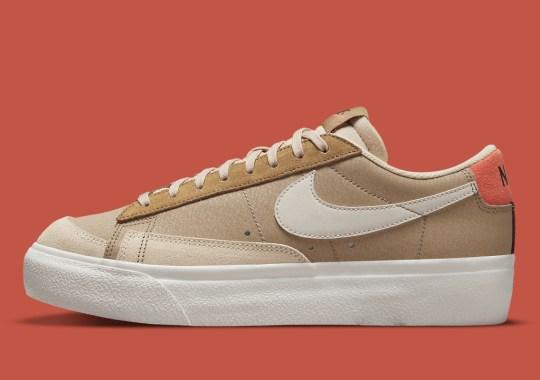 """The Women's Nike Blazer Low Platform Appears In """"Khaki"""""""