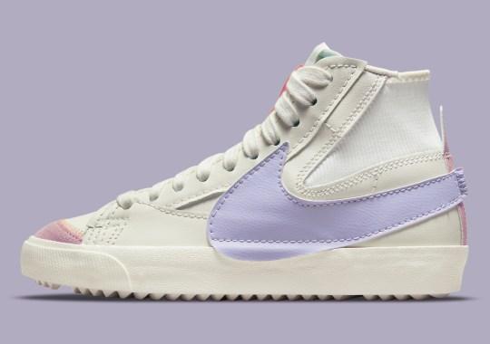 Soft Purple Animates The Jumbo Swooshes On This Nike Blazer Mid '77