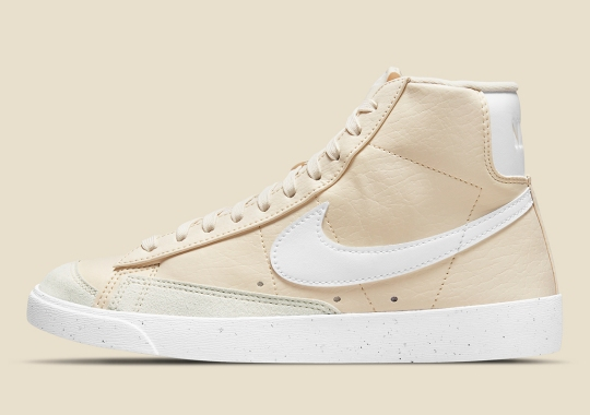 "Nike Dresses The Blazer Mid Next Nature In ""Coconut Milk"""