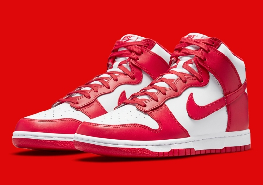 """Official Images Of The Nike Dunk High GS """"University Red"""""""