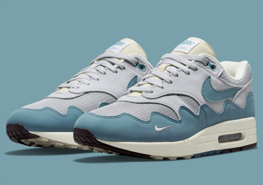 """Official Images Of The Patta x Nike Air Max 1 """"Noise Aqua"""""""