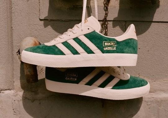 Mark Suciu Applies Green Suedes To His adidas Gazelle ADV