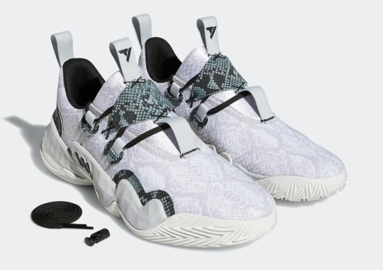 The adidas Trae Young 1 Gets Wrapped Up In Snakeskin