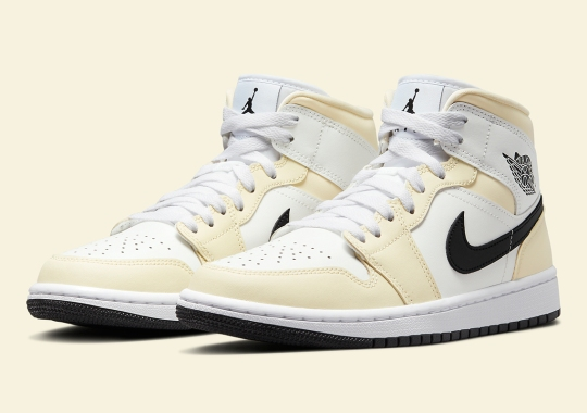 """The Air Jordan 1 Mid Joins The """"Coconut Milk"""" Trend For Women"""