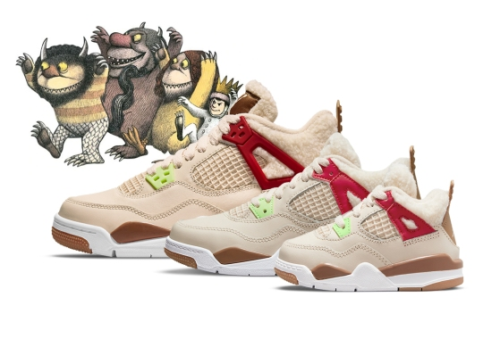 """Air Jordan 4 """"Where The Wild Things Are"""" Releasing In Full Kids Sizes"""