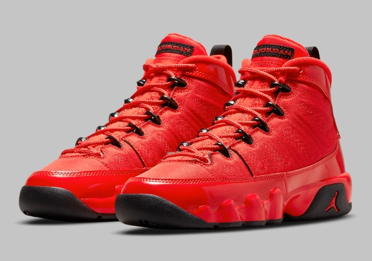 """The Air Jordan 9 """"Chile Red"""" Postponed To February 25th, 2022"""