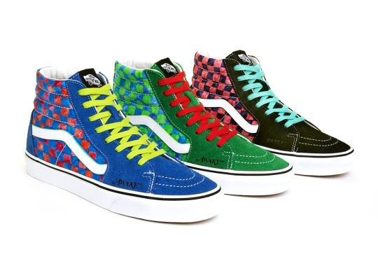Awake NY Reimagines The Classic Checkerboard Pattern On This Trio Of Vans Sk8-Hi Colorways