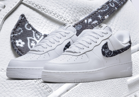 The Nike Air Force 1 Low Wraps Up In Black Twill Paisley