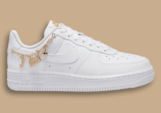 Nike Further Accessorizes The Air Force 1 With A Charm-Heavy Anklet
