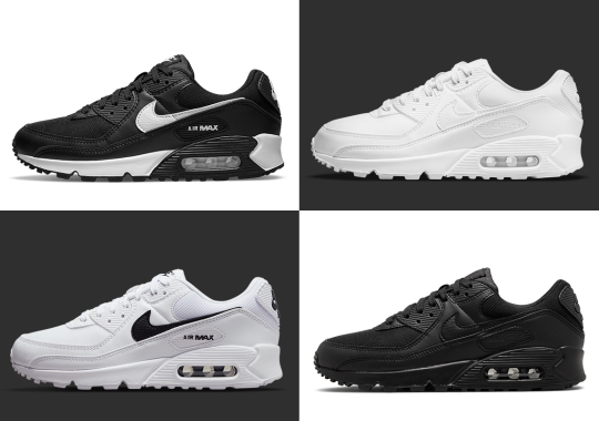"""The Nike Air Max 90 Next Nature Strips Down To Essential """"Black"""" And """"White"""""""