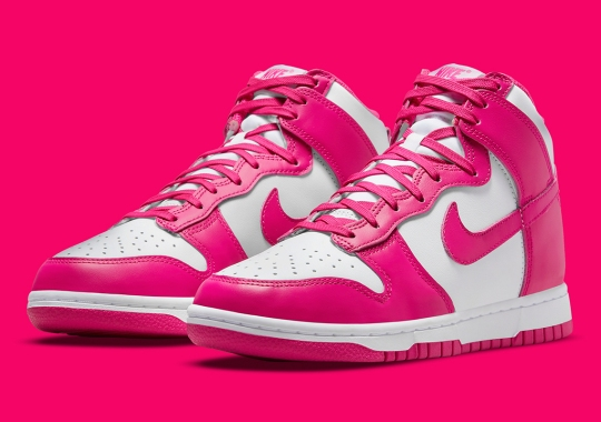 """Nike Dunk High """"Pink Prime"""" Official Images"""