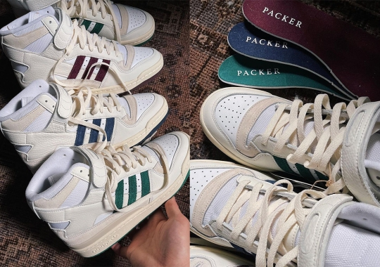 Packer Highlights Navy, Red, And Green With Their Three-Piece adidas Forum Hi Collaboration