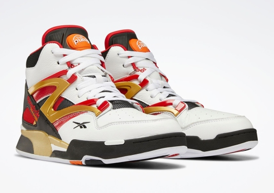 This Reebok Pump Omni Zone II Brings In Golden Accents To A Classic Colorway