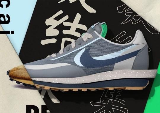 The CLOT x sacai x Nike LDWaffle Releases Tomorrow