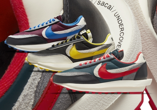 Official Images Of UNDERCOVER's sacai x Nike LDWaffle Collaborations