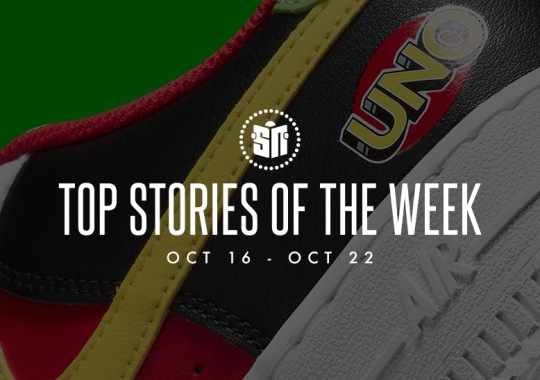 Fourteen Can't Miss Sneaker News Headlines From October 16th To October 22nd