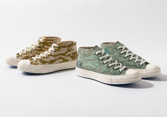 """UNDEFEATED Brings Back Their Statement """"Tiger Camo"""" Pattern On Two Converse Chuck 70 Mids"""