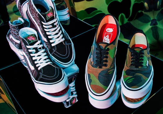 BAPE And Vans Embark On First Ever Head-To-Toe Collection