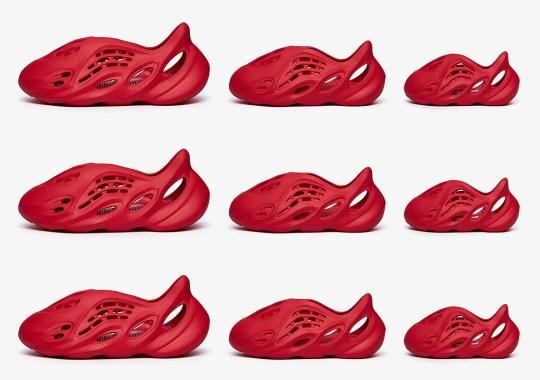 "The adidas Yeezy Foam Runner ""Vermillion"" Releases Tomorrow"